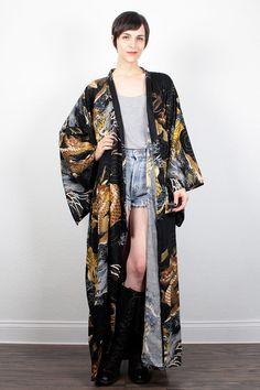 Bad bitch kimono with dragons and tigers.