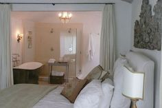1000 images about an open concept bathroom freaky or for Open concept master bedroom and bathroom
