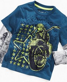 Flapdoodles Kids Shirt, Little Boys Open Road Graphic Shirt - Kids Shirts - Macy's