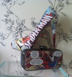 Spiderman shoes and matching spider man bag from http://www.cherrybomb-boutique.com