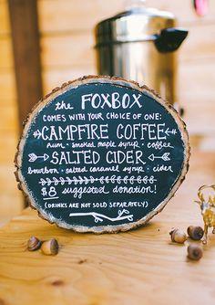 menu on wood