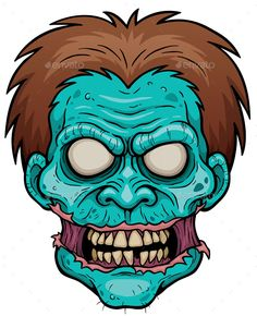 Buy Zombie by SARAROOM on GraphicRiver. Vector illustration of Cartoon Zombie face Zombie Drawings, Cartoon Drawings, Art Drawings, Graffiti Art, Graffiti Drawing, Zombie Kunst, Desenhos Halloween, Zombie Illustration, Halloween Ideas