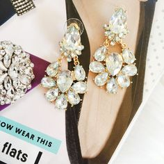 Feel confident and sparkle in these gorgeous rhinestone earrings. Pair them with your holiday party dress and a glass of champagne.  * Rhinestone Tear Drop Earrings $11