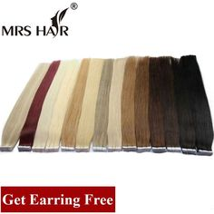 Tape In Human Hair Extensions Brazilian Remy Hair On Adhesive Tape Seamless Hair Extensions Straight Skin Weft Human Cabelos