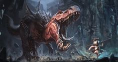 Anjanath pursuit by Raph04art