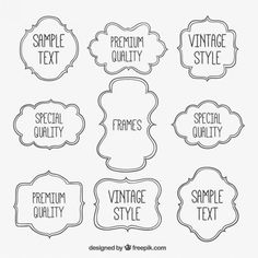 More than a million free vectors, PSD, photos and free icons. Exclusive freebies and all graphic resources that you need for your projects Letras Cool, Doodles, Letterhead Template, Instagram Story Template, Text Style, Text Design, Vintage Labels, Bullet Journal Inspiration, Autocad