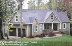 Affordable Gable Roofed Ranch Home Plan - 15885GE | Craftsman, Mountain, Ranch, Photo Gallery, 1st Floor Master Suite, Bonus Room, Butler Walk-in Pantry, CAD Available, Den-Office-Library-Study, Jack & Jill Bath, Loft, Multi Stairs to 2nd Floor, PDF, Split Bedrooms, Corner Lot | Architectural Designs
