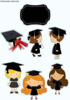 Graduation Clip Art, Graduation Images, Graduation Theme, Graduation Cap Decoration, Crown Printable, Bolo Barbie, Nurse Party, Graduation Cupcake Toppers, Retro Candy