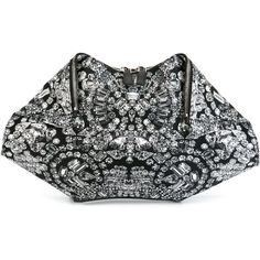 Alexander McQueen De Manta Diamond Print Clutch ($403) ❤ liked on Polyvore featuring bags, handbags, clutches, black, fold over handbag, black handbags, black purse, alexander mcqueen handbags and black clutches
