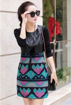winter-2017-slim-woolen-dress
