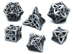 Celtic Dice Set 3d printed Games Dice 3D Render