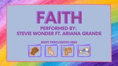 Faith (Stevie Wonder Ft. Ariana Grande) Body Percussion Rhythm Play Along Piano Lessons, Music Lessons, Ariana Grande Body, Bucket Drumming, Rhythm Games, Tools For Teaching, Stevie Wonder, Elementary Music, Music Classroom