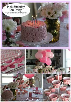 A Pink Birthday Tea Party