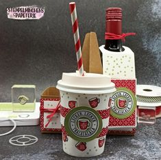 Weihnachten im Herzen - Herzerwärmend - Weihnachtsmarkt to go - Stampin' Up! Advent, Christmas Gifts, Xmas, To Go, Mini, Cocoa, Stampin Up, Goodies, Paper Crafts