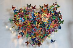colorful pics 10 Whats my favorite color? All of em photos) Butterfly Kisses, Butterfly Art, What's My Favorite Color, My Favorite Things, Art Papillon, I Love Heart, Favim, Flowers Nature, Heart Art
