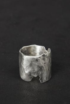 "Marilène Beneduce | ""Broken"" Silver Ring."