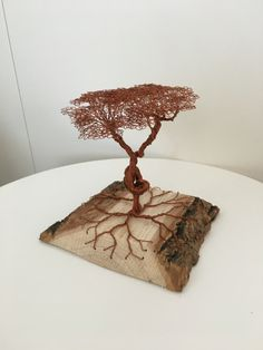 Drahtbaum Kupfer Place Cards, Place Card Holders, Diy, Wire, Copper, Tree Structure, Crafting, Bricolage, Do It Yourself