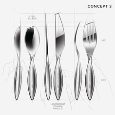 Kitchen Knife Handle Process Sketches Designer Unknown