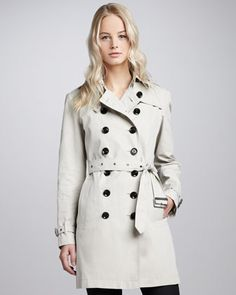 Classic Cotton Trenchcoat by Burberry Brit at Neiman Marcus.