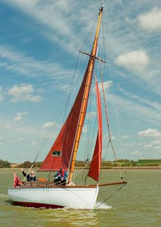 Nancy Blackett, once owned by Arthur Ransome is moored just up river from Twee Gebroeders.