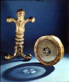La Tène period bronze Celtic sword hilt, Ballyshannon Bay, County Donegal, 1st century B.C. Dublin, National Museum of Ireland