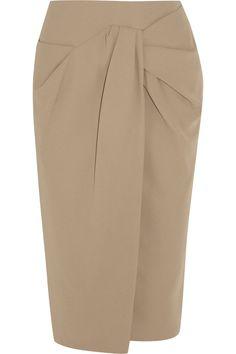 Burberry Prorsum|Gathered crepe pencil skirt|NET-A-PORTER.COM