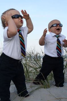 the blues brothers :)  Little groomsmen