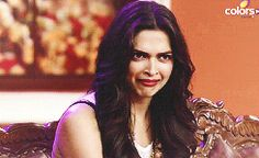 """ Deepika Padukone being cute + reaction gifs """