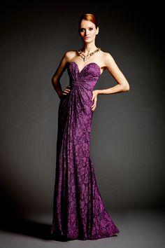 Dalia McPhee purple lace gown