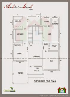 Good 2000 Square Feet House Plan And Elevation Kerala Building Type House Plan ,  Greenlife Engineering Solution Palakad