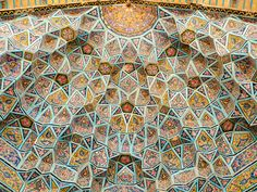 Another glance at heaven: vault at the Nasr ol Molk mosque, Shiraz: photo by dyanamomosquito, 2007