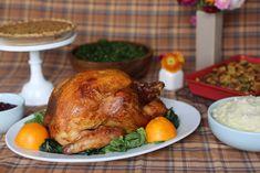 BROWN SUGAR– AND MUSTARD-GLAZED ROAST TURKEY
