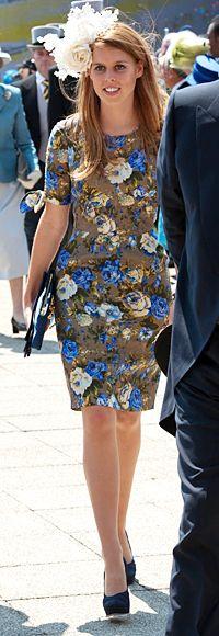 Princess Beatrice in floral sheath dress