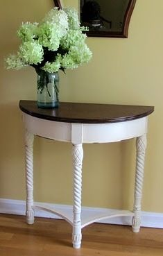Taking a $5 garage sale table into a fun and fashionable entry way table - step by step guide.