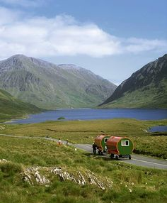 Horse Drawn Caravans, Doo Lough; County Mayo, Ireland.