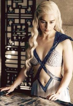 Daenerys Targaryenz I'm a fan of black hair but this platinum look on her is beautiful!  -CharleeH