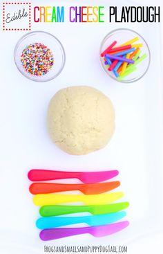 edible cream cheese playdough