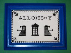Allons-y!  Doctor Who cross stitch #DoctorWho
