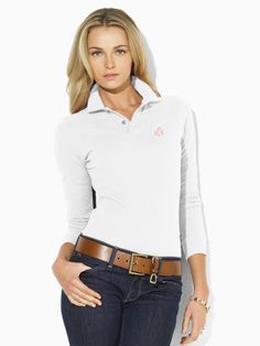 Monogrammed polos by Ralph Lauren.