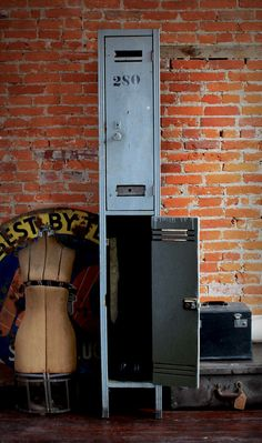 Two of my favorite things old lockers and dress forms
