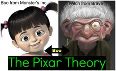 The Pixar Theory is that Boo from Monster's Inc. is the witch in Brave. There is much more to it.