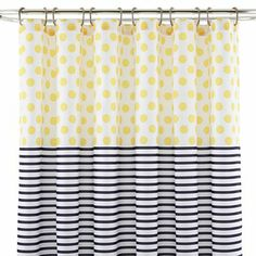 jcp home™ Dots & Stripes Shower Curtain - JCPenney