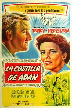Adam's Rib is a 1949 Comedy, Crime film directed by George Cukor and starring Spencer Tracy, Katharine Hepburn. Hd Movies, Movies And Tv Shows, Movie Tv, Top 10 Comedies, Judy Holliday, Crime Film, Katharine Hepburn, 9 Year Olds, Movie List