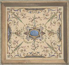 Jules-Edmond-Charles Lachaise | Design for Ceiling, Château de Cangé | The Met