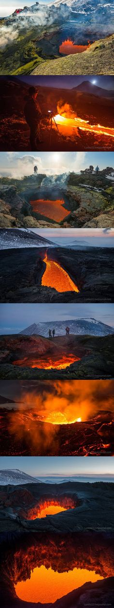 Two Kyrgyzstan-based photographers, Andrew and Luda, run a joint Live Journal account where they post amazing photos of outdoor scenery, wildlife, and recently: active volcanoes. Earlier this year the duo trekked to the Kamchatka Peninsula in Russia where the volcano complex known as Tolbachik was in active eruption.
