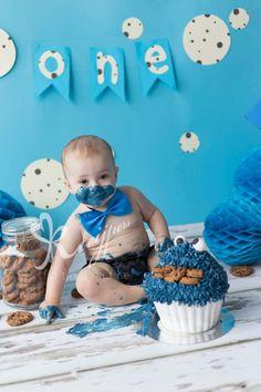Cakesmash cakesmashphotography cookiemonster koekiemonster cake first birthday eerste verjaardag sesamestreet cookie