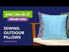 Watch how easy it is to sew an envelope pillow cover for any-size pillow form! In just a few simple steps and only 4 straight seams, you can make custom pill. Couch Pillows, Throw Pillows, String Crafts, Old Clothes, Sewing Pillows, Love Sewing, Pillow Forms, Pet Beds, Joanns Fabric And Crafts