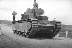 Russian T-35 Heavy tank.    the T-35 was an experimental tank designed at Bolshevik factory in Leningrad by N Tsiets.The Red Army wanted a multi turreted tank that would break through heavy defenses, the engine was rear mounted and the crew was linked by a phone system, the armament was one 76mm tank gun & a 37mm pointing to the rear and 7.62 MG turrets for all round protection.