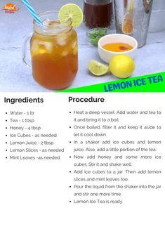 Lemon Ice Tea | Best Summer Drinks | Tasted Recipes Lemon Iced Tea Recipe, Ice Lemon Tea, Iced Tea Recipes, Snacks Recipes, Drink Recipes, Refreshing Drinks, Summer Drinks, Main Course Dishes