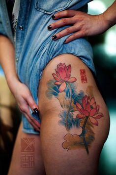 #ink #tattoo #lotus